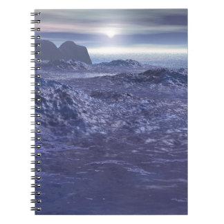 Frozen Sea of Neptune Spiral Notebook