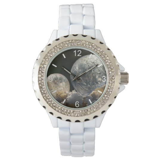Frozen Soap Bubbles Ice Crystal - women dial-plate Wrist Watch