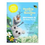 Frozen Summer Olaf Birthday Invitation