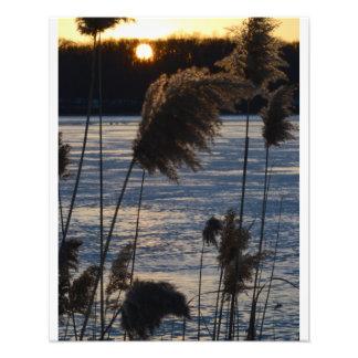Frozen Sunset on the Lake 2 Photo