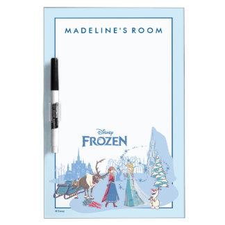Frozen | Sven, Anna, Elsa & Olaf Blue Pastels Dry Erase Board