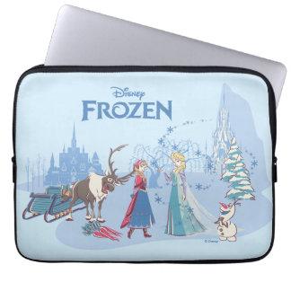 Frozen | Sven, Anna, Elsa & Olaf Blue Pastels Laptop Sleeve
