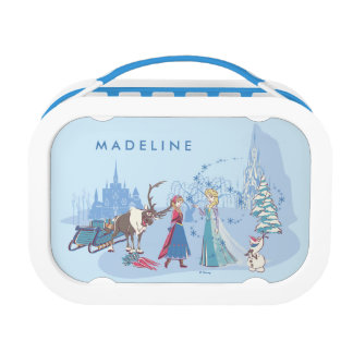 Frozen | Sven, Anna, Elsa & Olaf Blue Pastels Lunch Box