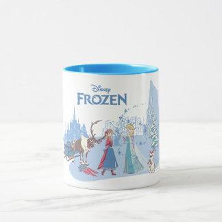Frozen | Sven, Anna, Elsa & Olaf Blue Pastels Mug