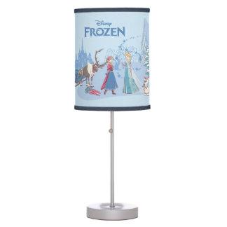 Frozen   Sven, Anna, Elsa & Olaf Blue Pastels Table Lamp