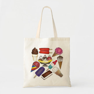 Frozen Treats Ice Cream and Popsicle Tote Bag