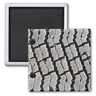 Frozen Tyre Abstract Square Magnet