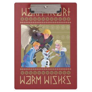 Frozen | Warm Heart Warm Wishes Clipboard