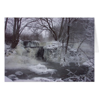 Frozen Waterfall Christmas Card - Jeremiah verse