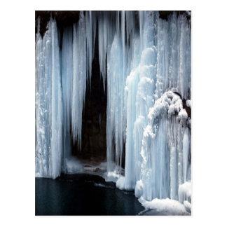 Frozen Waterfall Postcard