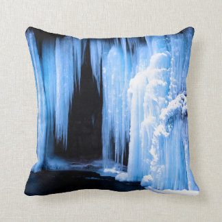 Frozen Waterfall Throw Pillow