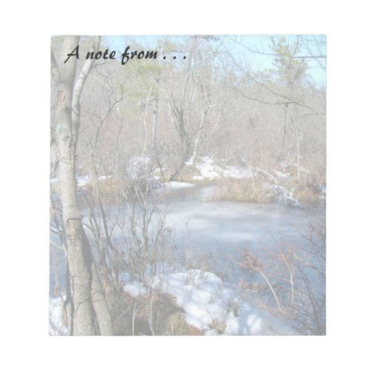 Frozen Wetlands Pond Notepad