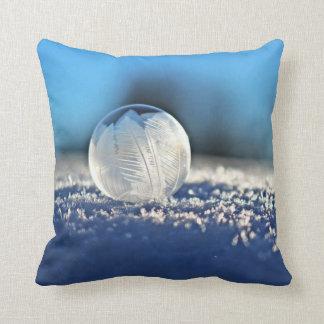 Frozen Winter Bubble Throw Pillow