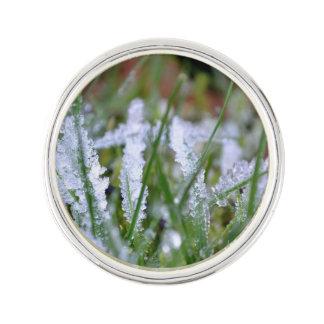 Frozen Winter Grass Lapel Pin