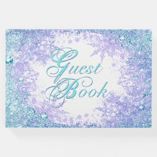 Frozen Winter Wonderland Birthday Party Guest Book