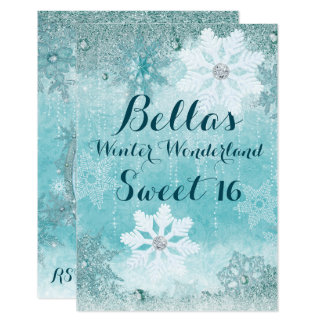 Frozen Winter Wonderland Party Invitations