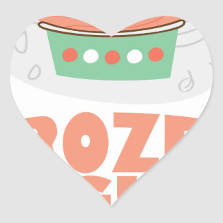 Frozen Yogurt Day - Appreciation Day Heart Sticker