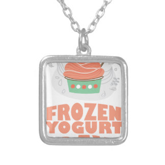 Frozen Yogurt Day - Appreciation Day Silver Plated Necklace
