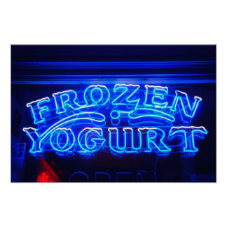 Frozen Yogurt in Florence Poster