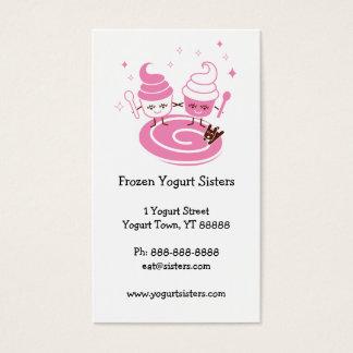 Frozen Yogurt Sisters Business Card