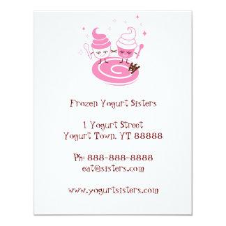 Frozen Yogurt Sisters Invitation