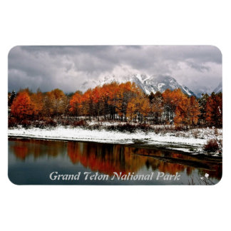 FRST SNOW AT OXBOW BEND IN GRAND TETON RECTANGULAR PHOTO MAGNET