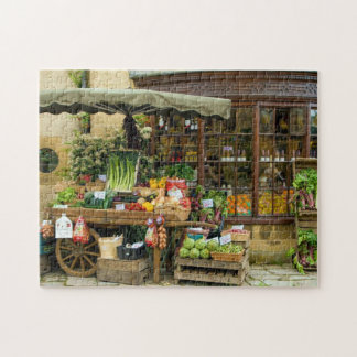 Fruit and Veg Colorful English Village Store Jigsaw Puzzle
