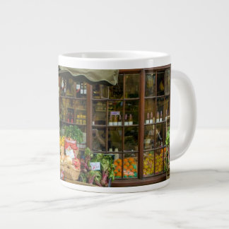 Fruit and Veg Colorful English Village Store Large Coffee Mug