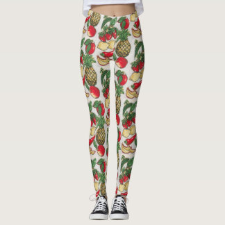 Fruit and Vegetable Appliqué Leggings