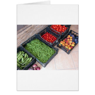 Fruit and vegetable boxes card