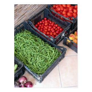 Fruit and vegetable boxes postcard
