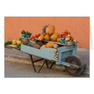 Fruit and vegetable cart, Cuba Card