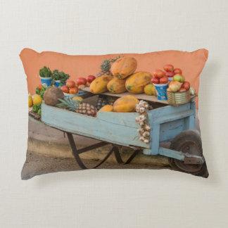 Fruit and vegetable cart, Cuba Decorative Pillow