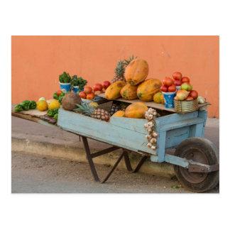 Fruit and vegetable cart, Cuba Postcard