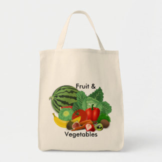 Fruit And Vegetable Grocery Grocery Tote Bag