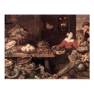 Fruit and Vegetable Market  by Frans Snyders Postcard