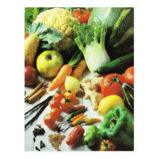 Fruit and vegetables, All kinds of vegetables Postcard