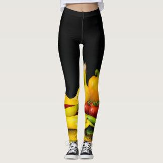 fruit and veggie custom leggings