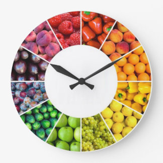 Fruit and Veggie Wall Clock