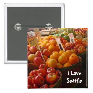 Fruit at Pikes Place Market Pinback Button