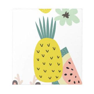Fruit balloons notepad