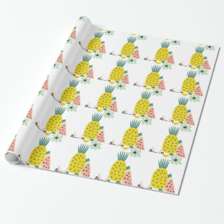 Fruit balloons wrapping paper