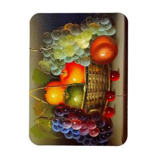 FRUIT BASKET RECTANGULAR PHOTO MAGNET