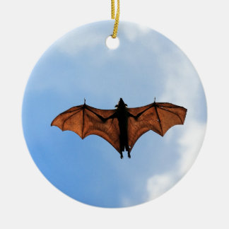 Fruit bat ceramic ornament