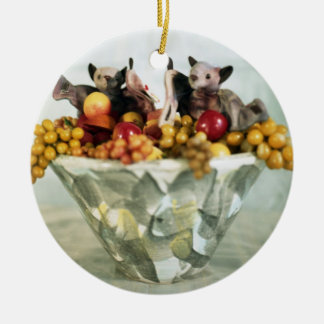 fruit bats ornament
