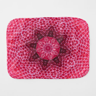 FRUIT BOHEMIAN KALEIDOSCOPIC GEOMETRIC MANDALA BURP CLOTH