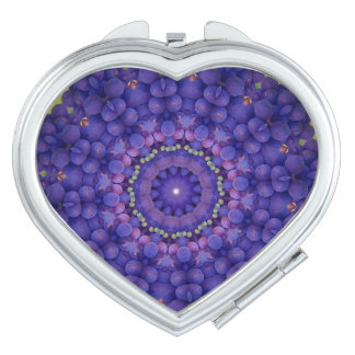 FRUIT BOHEMIAN KALEIDOSCOPIC GEOMETRIC MANDALA  CO TRAVEL MIRROR