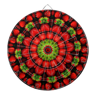 FRUIT BOHEMIAN KALEIDOSCOPIC GEOMETRIC MANDALA DARTBOARD