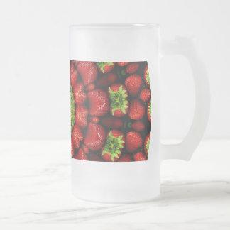 FRUIT BOHEMIAN KALEIDOSCOPIC GEOMETRIC MANDALA FROSTED GLASS BEER MUG