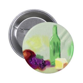 Fruit Bottle Cheese Art 2 Inch Round Button